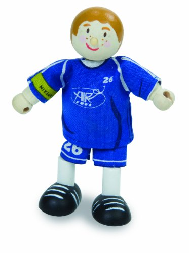 Budkins Soccer Player Footballer #26 Toy Figure, Blue