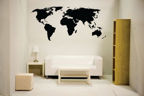 Newclew world map wall decal Vinyl Art Sticker Home D¨¦cor Large
