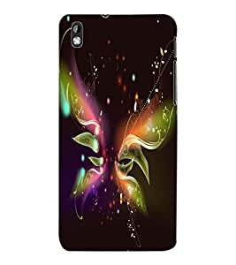 ColourCraft Digital Butterfly Design Back Case Cover for HTC DESIRE 816