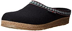 Haflinger GZ Clog,Black,42 EU/Women\'s 11 M US/Men\'s 9 M US