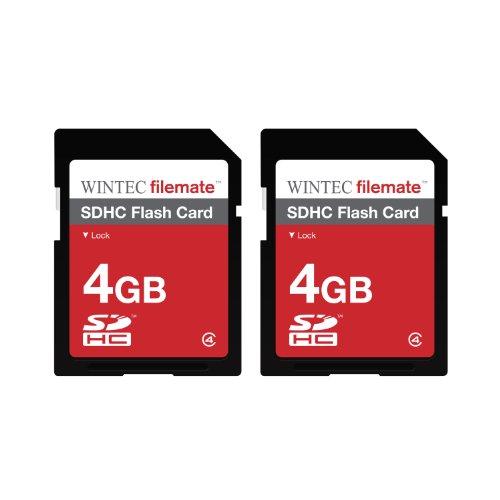 Wintec 3FMSD4GB-2PK Filemate 8 GB (2 x 4 GB) Class 4 Secure Digital SDHC Card