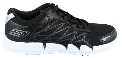 Skechers Women's Go Bionic Fuel Walking Shoe,Black/White,6 M US