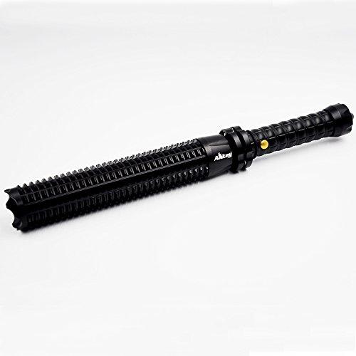 Baseball Bat Extended Telescopic Zoom 280 Lumen Q5 CREE XPE LED Long Flashlight Security Patrols Driver Self-defense Flashlight (004)