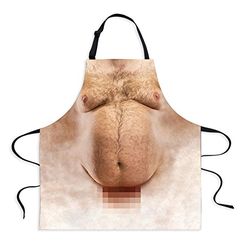 Sexy Apron Novelty Naked Men Women Cooking Grilling Naughty Apron Funny Creative Thanksgiving Christmas Gifts (Men 3)