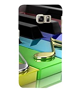 PrintVisa Colorful Music Piano Design 3D Hard Polycarbonate Designer Back Case Cover for SAMSUNG GALAXY NOTE 6