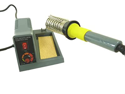 Soldering Station Features Continuously Variable Power Between 110-130V or 220-240V, a 1.5mm Pointed Tip by Electronix Express