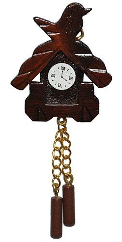 Miniatur Kuckucksuhr – für Puppenstube Maßstab 1:12 – Nostalgie Uhr Wanduhr für Wohzimmer Schwarzwald Puppenhaus günstig bestellen