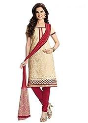 Venisa Pure Cambric Cotton Cream Color Salwar Suit Dress Material