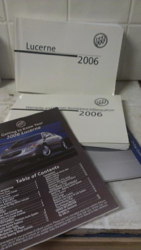 2006 Buick Lucerne Owners Manual (2006 Buick Lucerne Owners Manual compare prices)