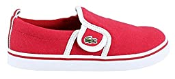Lacoste Gazon 116 1 Slip-On (Toddler/Little Kid/Big Kid), Red, 7.5 M US Toddler