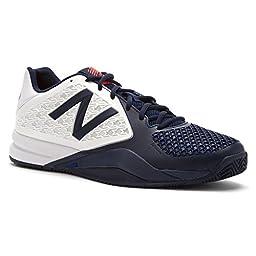 New Balance Men\'s MC996 Lightweight Tennis Shoe, White/Blue, 14 D US