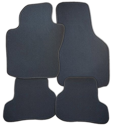 Fussmatten-Velours-graphit-Regent-passend-fr-VW-Caddy-Kombi-01022004-X-vohi-2-Schiebetren-Kombi-ww-VW-oder-Touran-Halter-R