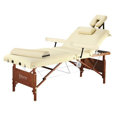 Master Massage Del Ray Therma Top Massage Table Salon, Cream, 30 Inches X 72 Inches X 24 to 34 Inches