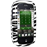 Amzer Zebra Print Snap On Crystal Hard Case with Belt Clip for Palm Pre
