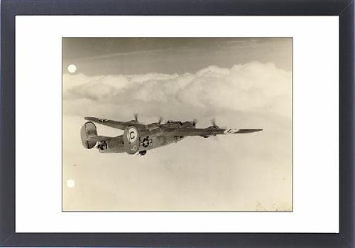 Framed Artwork of Consolidated B-24J-145-CO Liberator