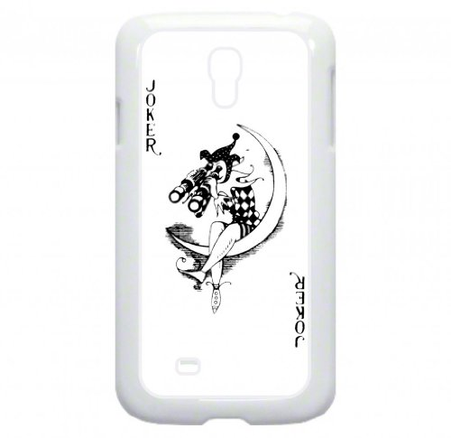 Joker Playing Card - Joker With Binoculars - Double Layer Protection White Rubber Case - For The Samsung® Galaxy S4 I9500 Case