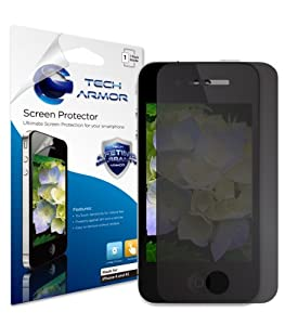 Tech Armor Ultimate 4-Way, 360 Degree Privacy Screen Protector with Lifetime Replacement Warranty for Apple iPhone 4 and 4S [1-Pack]