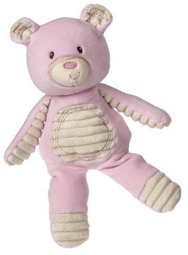 Mary Meyer Thready Teddy Soft Toy, Pink front-938475