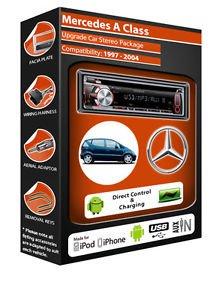 Mercedes A Class de lecteur CD et stéréo de voiture Kenwood KDC 3057ur dans Android/Auxiliaire/USB/radio