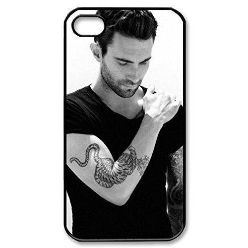 Adam Levine Hard Plastic Back Cover Case Pattern Silicone Rubber Non-slip Protective Cover Case Skin For Apple iPhone 5 5S