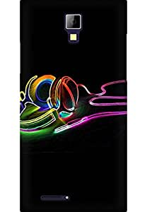 AMEZ designer printed 3d premium high quality back case cover for Micromax Canvas Xpress A99 (abstract ear plugs)