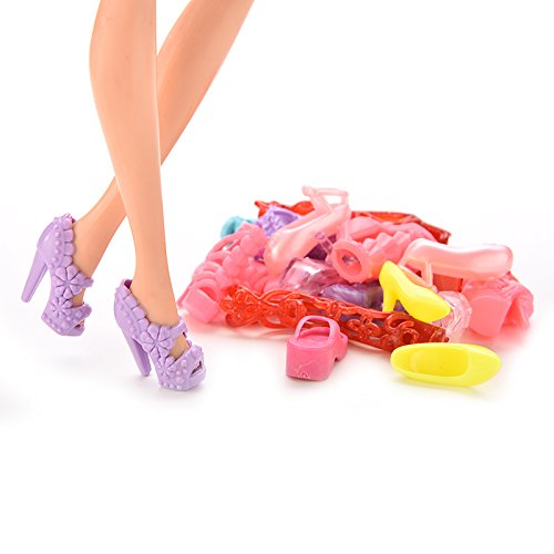 BESTIM-INCUK-12-piecespaquete-zapatos-bota-sandalia-accesoria-de-colores-para-Barbie-mueca