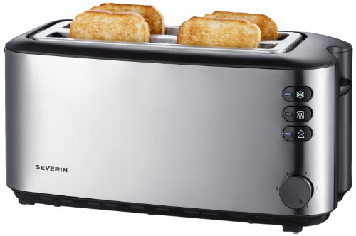 Severin Automatic Long Slot Toaster 4 Slice Brushed Stainless Steel by Severin