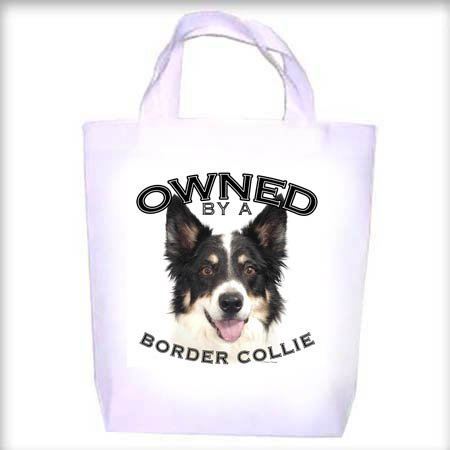 Border Collie Owned Shopping - Dog Toy - Tote Bag