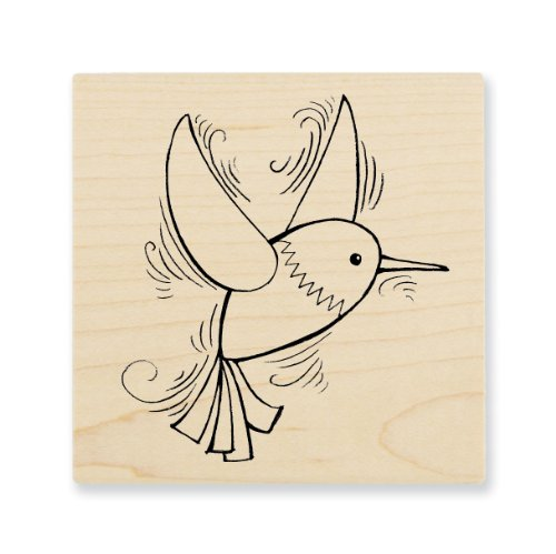 "Stampendous Wooden Handle Rubber Stamp, ""Pen Pattern Hummingbird"""