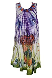 Indiatrendzs Women's Dress Purple Sleevless Casual Wear Dresses