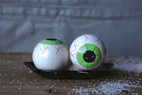 Ceramic Eyeball Salt & Pepper Shaker Set