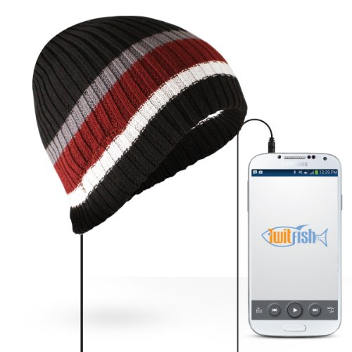 Twitfish Headphone Beanie Hats Cappello Cotone Snowboard Cuffie Auricolari Mp3 Musica Jack Headset Universale per iPhone iPod Smartphone Galaxy Lg Htc