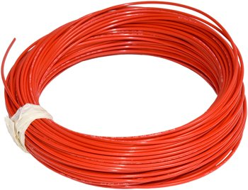 100' Length Of M22759/16-20-2 Red Tefzel. Note: Not On A Spool, Hand Coiled In A Sealed Plastic Bag.