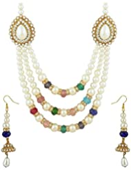 Bhavika Exim's Multicolored Metal Necklace Set For Women - B01KX93NH4