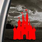 DISNEY Red Decal CASTLE MAGIC KINGDOM Window Red Sticker