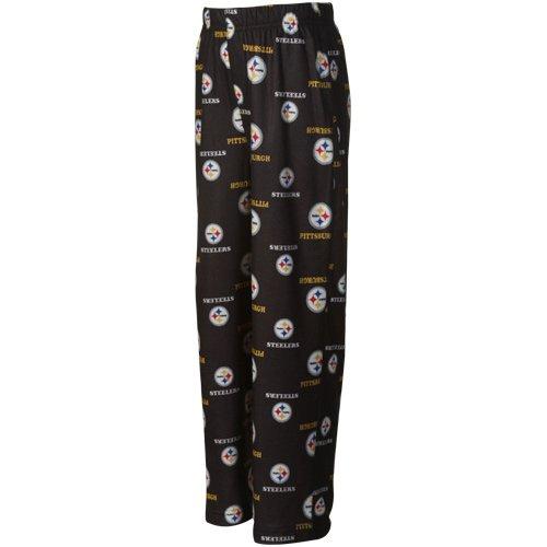NFL Pittsburgh Steelers Preschool Allover Logo Flannel Pajama Pants - Black from SteelerMania