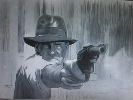 Indiana Jones Raiders de la y el arca perdida de pintura al óleo 28 x 16 de arte pintado a mano, no es un Giclée, o Póster de cuadro. Este es un diseño de interpretación de clásico de arte. Pinceladas y la textura