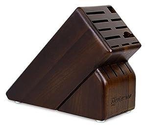 15-Slot Walnut Knife Block
