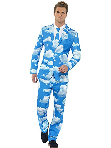 Smiffy's - Costume per travestimento, motivo: Sky High, incl. completo giacca/pantaloni e cravatta, Uomo, L