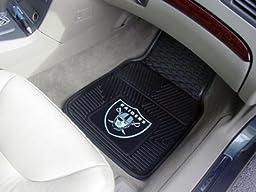 Exclusive By FANMATS NFL - Oakland Raiders Heavy Duty 2-Piece Vinyl Car Mats