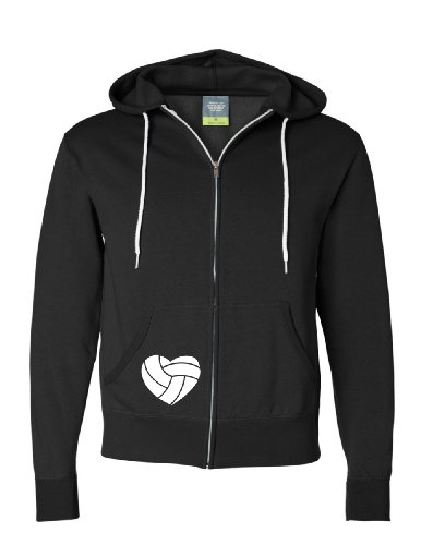 Adult Unisex Live Love Volley Full Zip Hooded Sweatshirt (Small) front-1054045