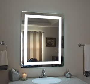 wall mounted lighted vanity mirror mam83240 commercial grade 32 wide x 40 tall. Black Bedroom Furniture Sets. Home Design Ideas