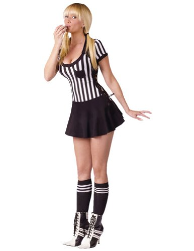 Adult-Costume Racy Referee Adult 10-14 Halloween Costume