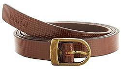 Garvan Women's Brown Leather Belt (LBW 2-Brown-B, Size : 32)