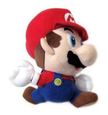 "Nintendo 64 Super Mario Brothers Game Mario 8"" Plush Figure (Jumping) - 1"