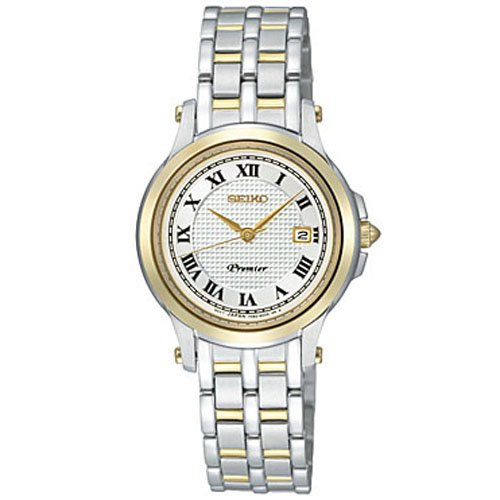 Seiko White Dial Two-tone Stainless Steel Ladies Watch SXDE02