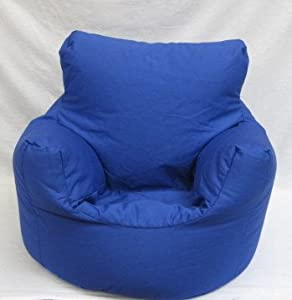 Cotton Royal Blue Bean Bag Arm Chair Seat from Hallways
