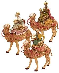 "3-Piece Fontanini 5"" Three Kings On Camels Christmas Nativity Figure Set #71514"