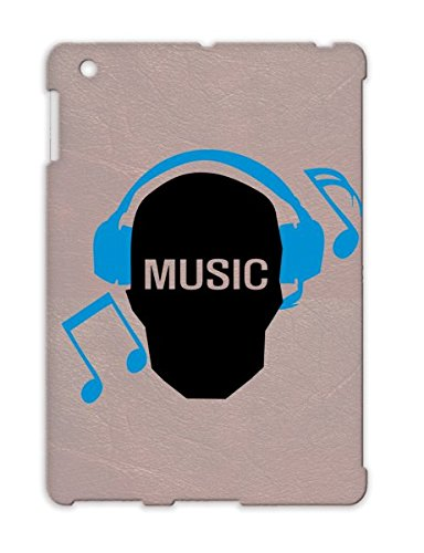 Tpu Tearproof Music Skull Geek Skull Text Miscellaneous Skull Music Notes Music Listen To Funny Headphones Geek Earphones Note Navy Case Cover For Ipad 2