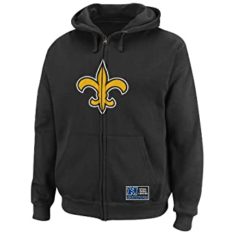 NFL Mens New Orleans Saints Classic Heavyweight III Black Long Sleeve Full Zip Fleece... by VF LSG